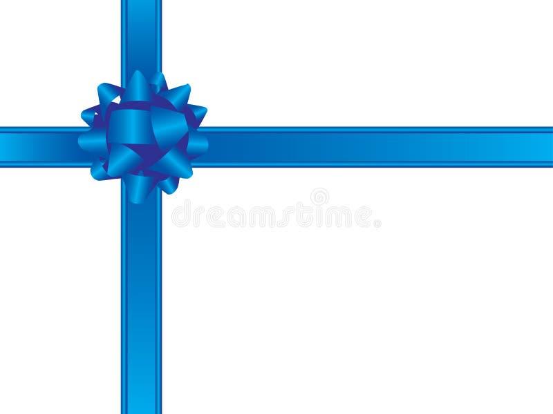 蓝色弓丝带 向量例证