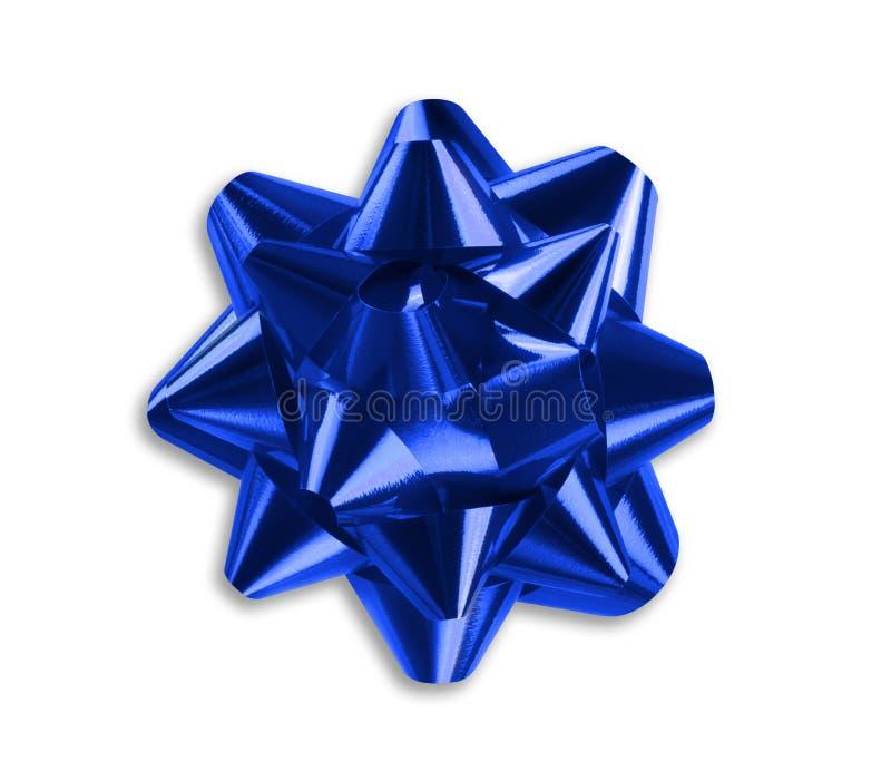 蓝色弓丝带 免版税图库摄影