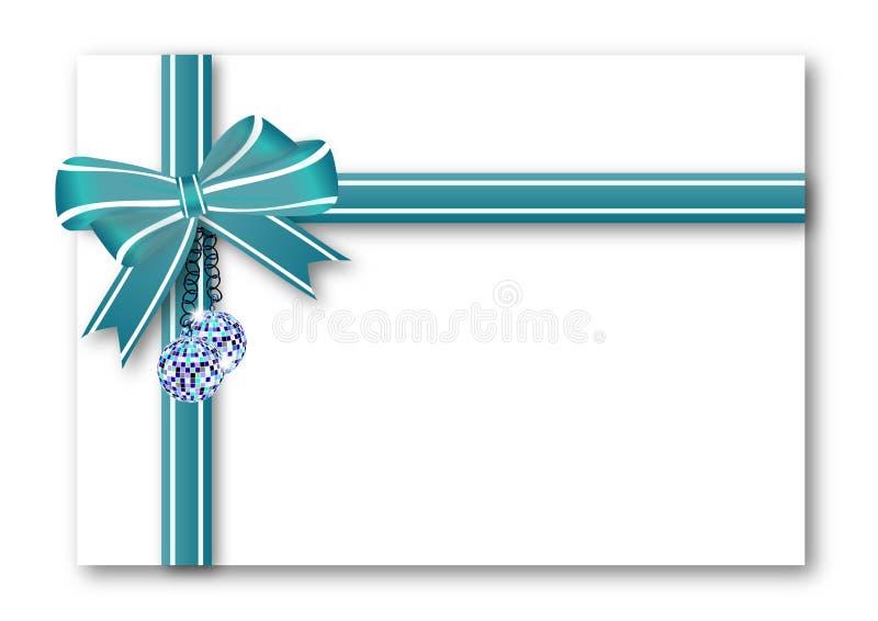 蓝色弓礼品 向量例证