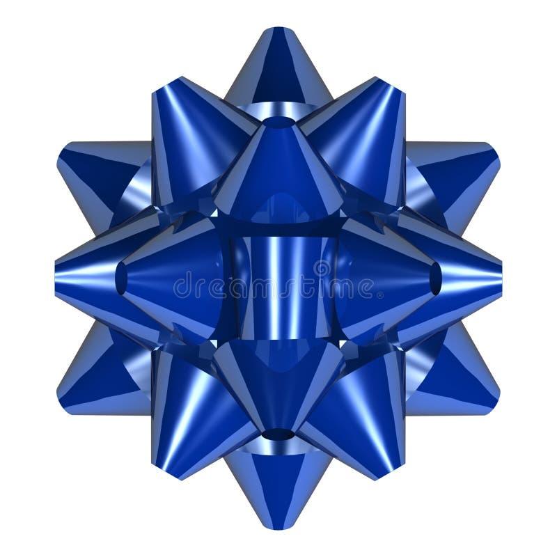 蓝色弓 向量例证