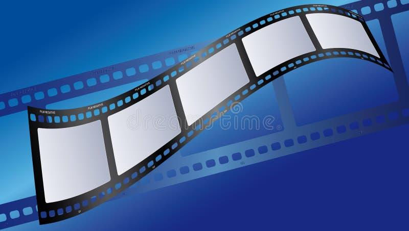 蓝色影片例证 免版税库存图片
