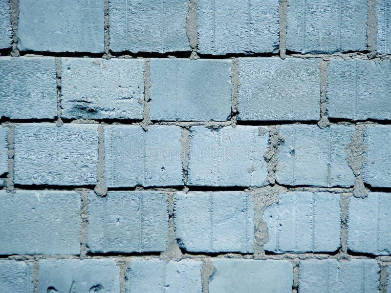 蓝色微风砖墙 库存照片