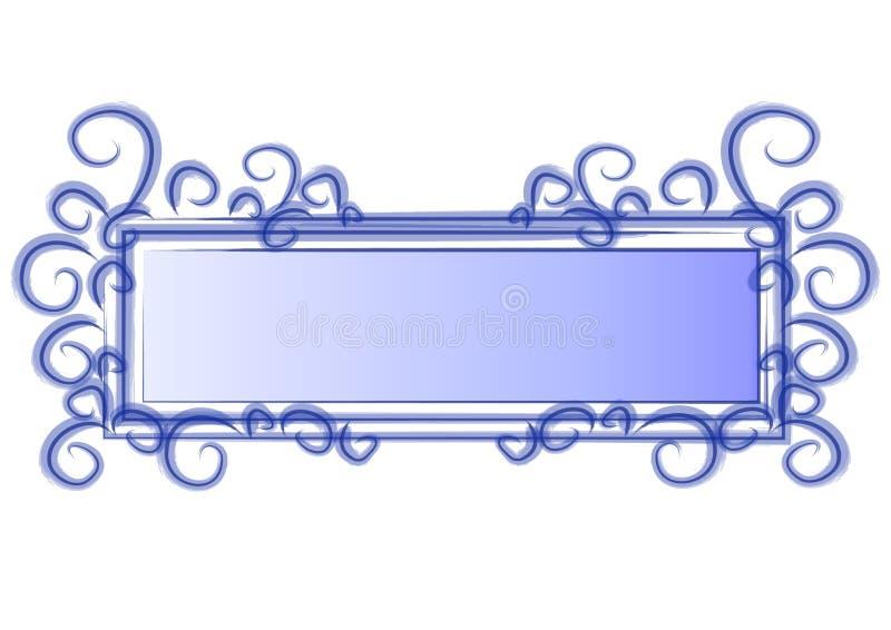 蓝色徽标页漩涡万维网 向量例证