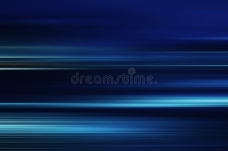 蓝色快速地移动光和的条纹 向量例证