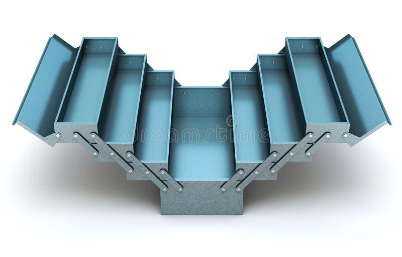 蓝色悬臂式工具箱 向量例证