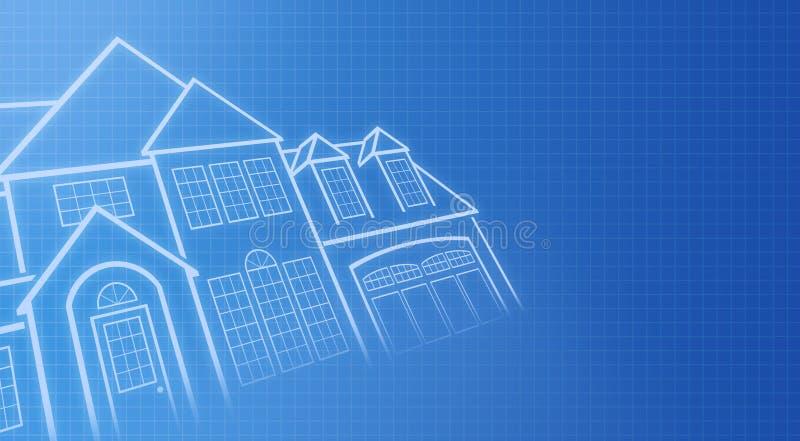 蓝色房子打印 库存照片