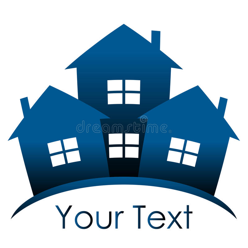 蓝色房子 向量例证