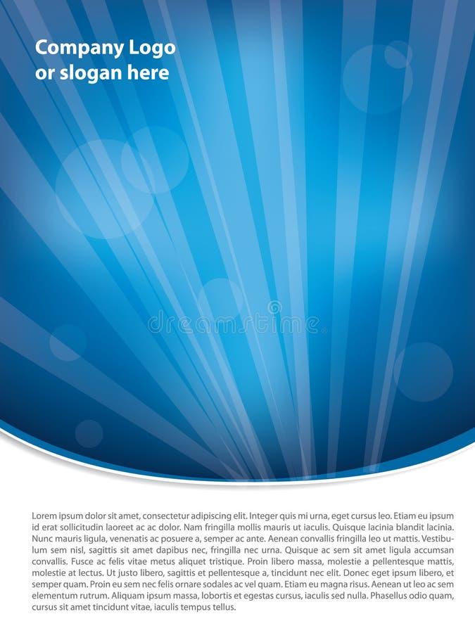 蓝色手册干净的设计 向量例证