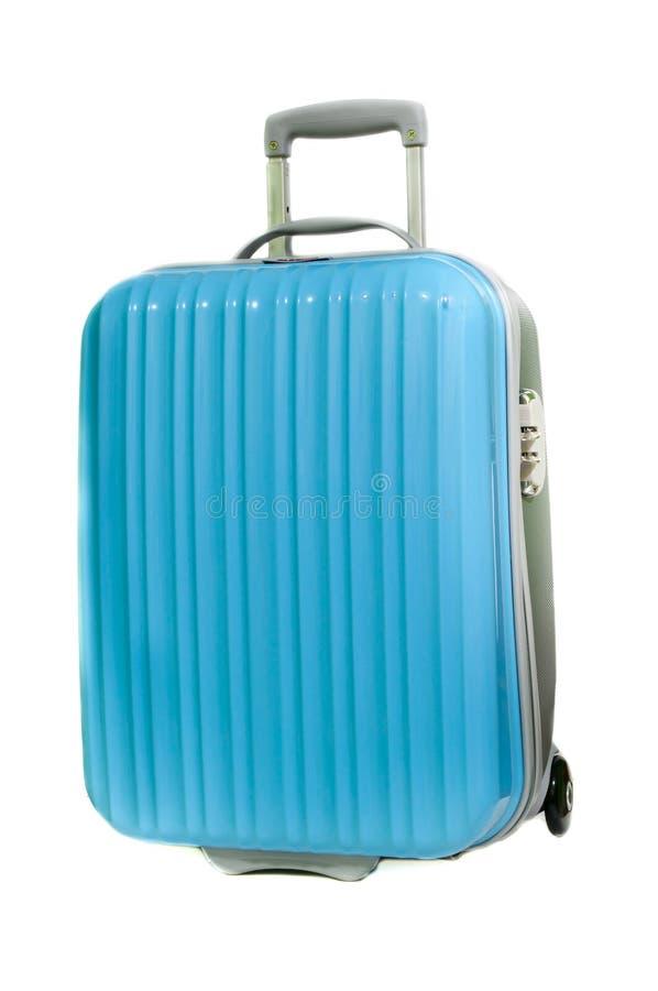 蓝色手提箱 免版税图库摄影