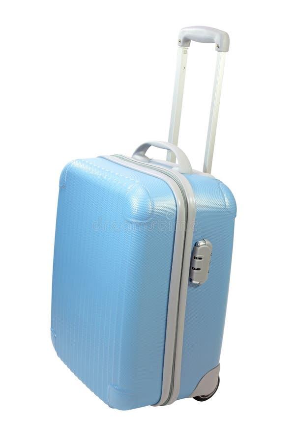 蓝色手提箱 库存图片