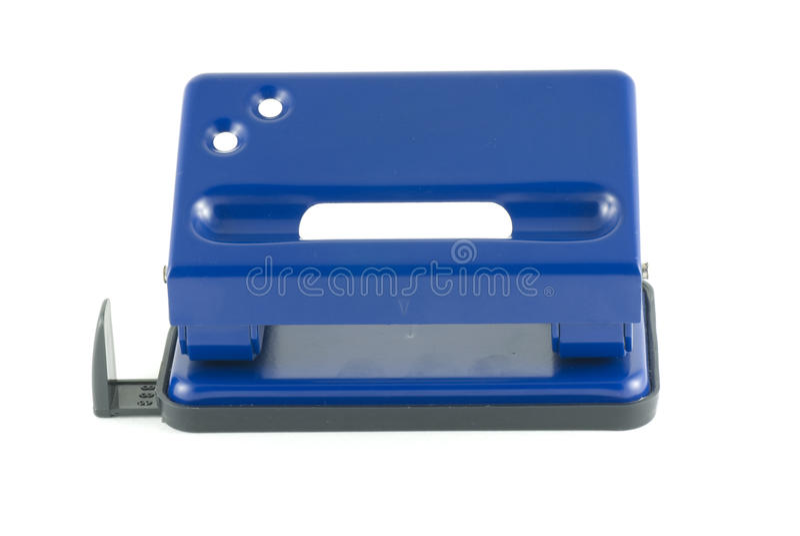 蓝色打孔器 库存照片