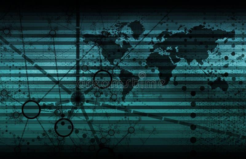 蓝色技术万维网 库存例证