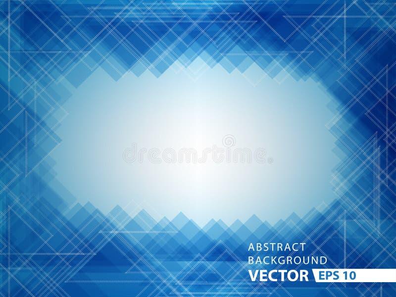 蓝色技术摘要背景传染媒介设计 皇族释放例证