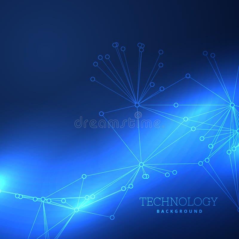 蓝色技术背景设计 皇族释放例证