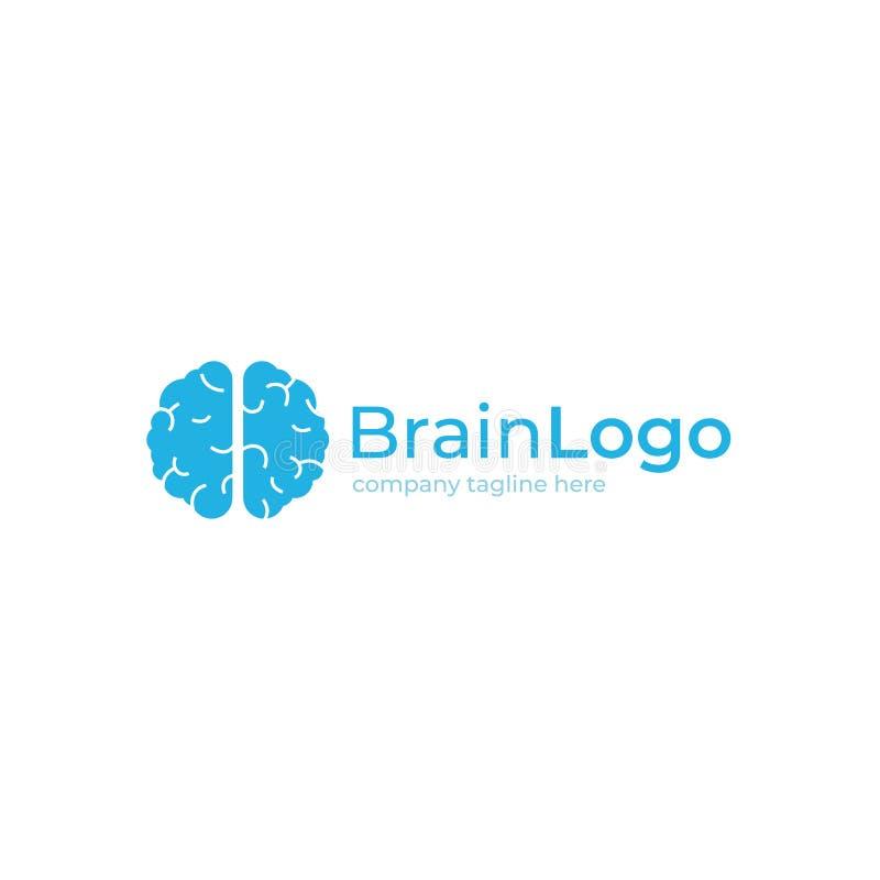 蓝色技术脑子创造性的商标 略写法概念 教育和人脑 皇族释放例证