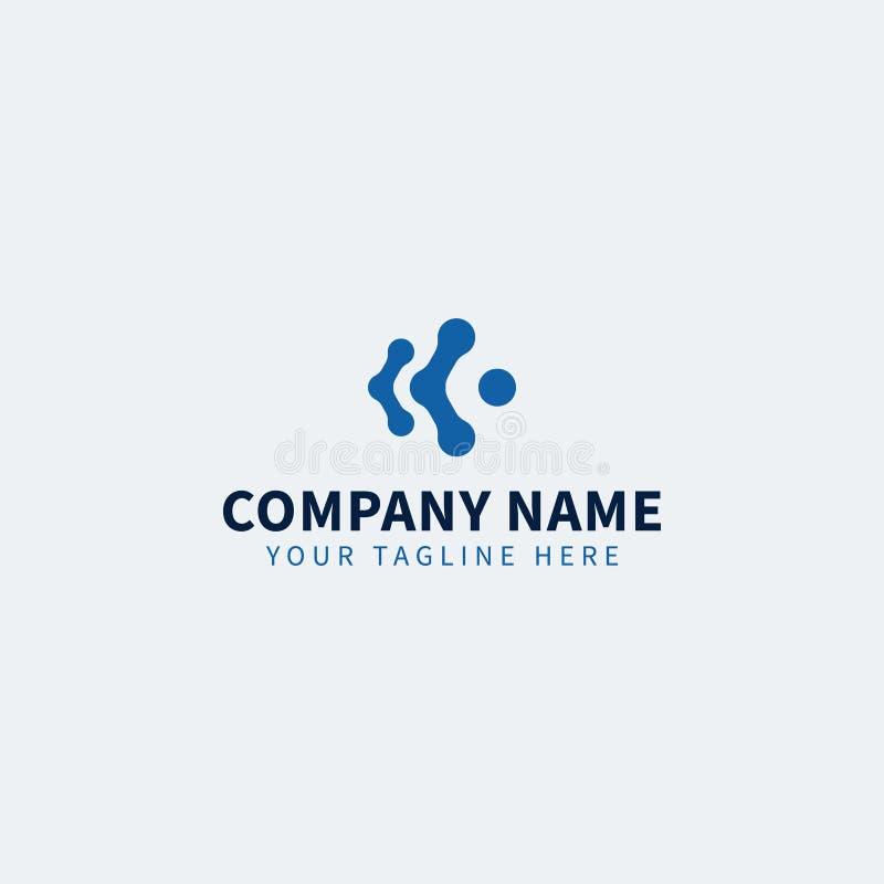 蓝色技术IT商标编辑可能为IT事务或服务 向量例证