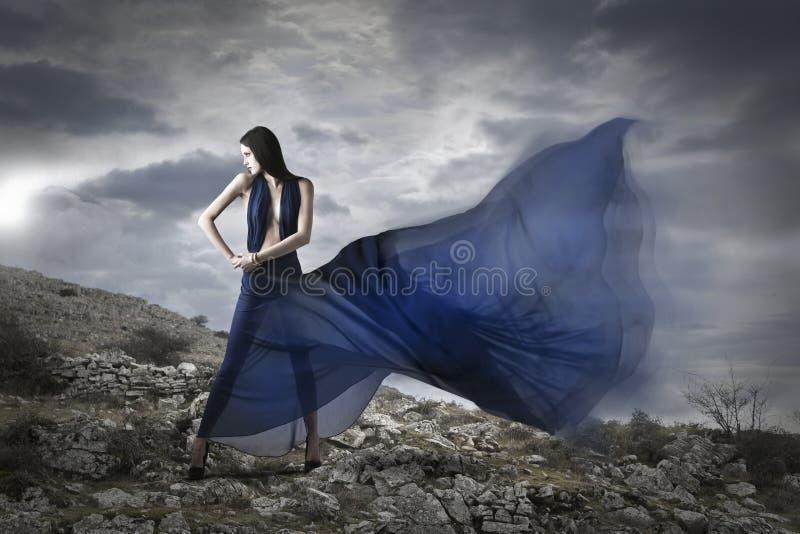蓝色折叠 免版税库存照片