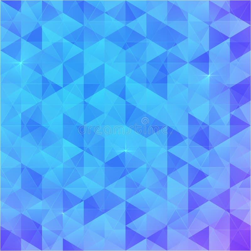 蓝色抽象传染媒介三角背景 皇族释放例证