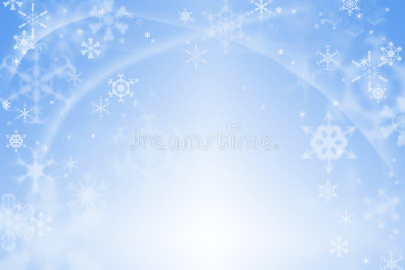 蓝色抽象冬天背景 皇族释放例证