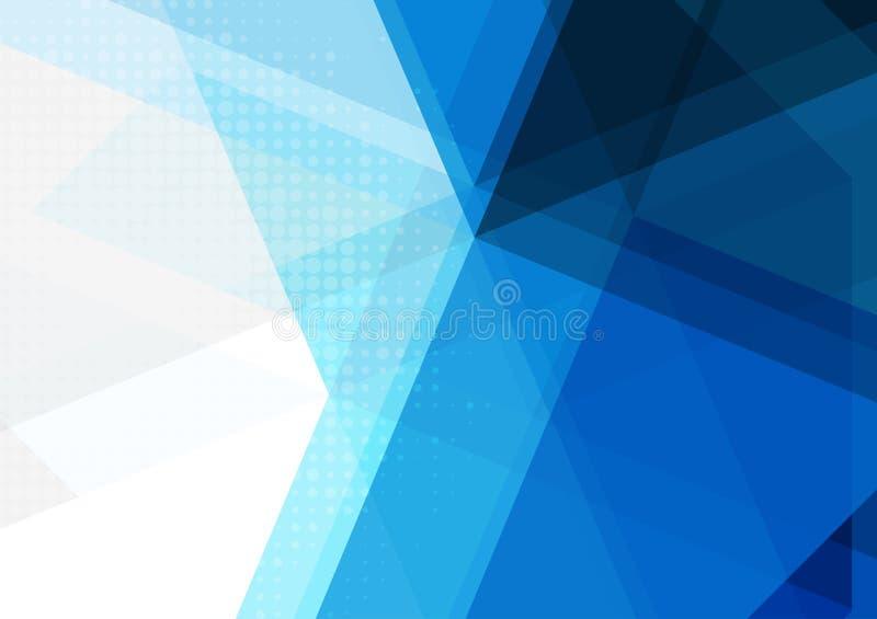 蓝色抽象几何背景,传染媒介例证 库存例证