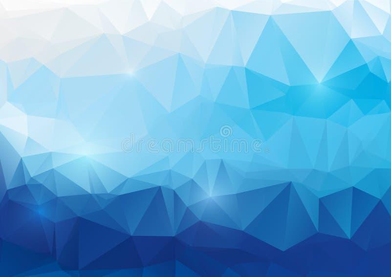 蓝色抽象多角形背景 皇族释放例证