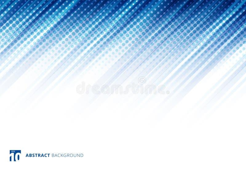 蓝色抽象对角线排行与中间影调的背景技术 皇族释放例证