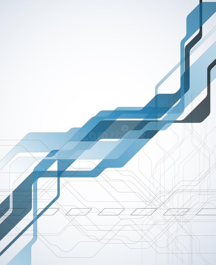 蓝色抽象技术背景 向量例证