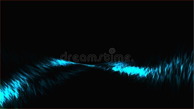 蓝色抽象明亮的不可思议的宇宙小条,精力充沛的线能量电明亮的明亮的轻的纹理背景,穿线 库存例证