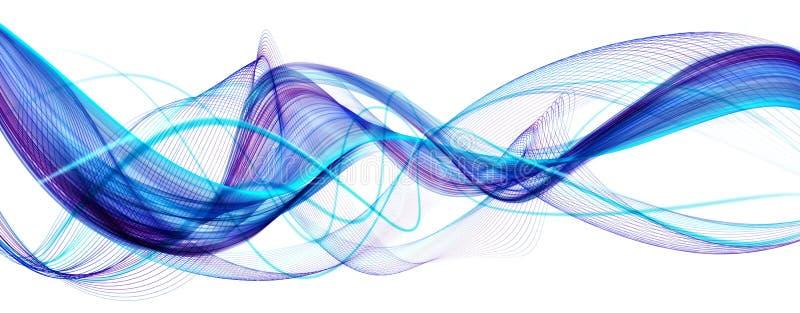 蓝色抽象现代波浪背景 库存例证