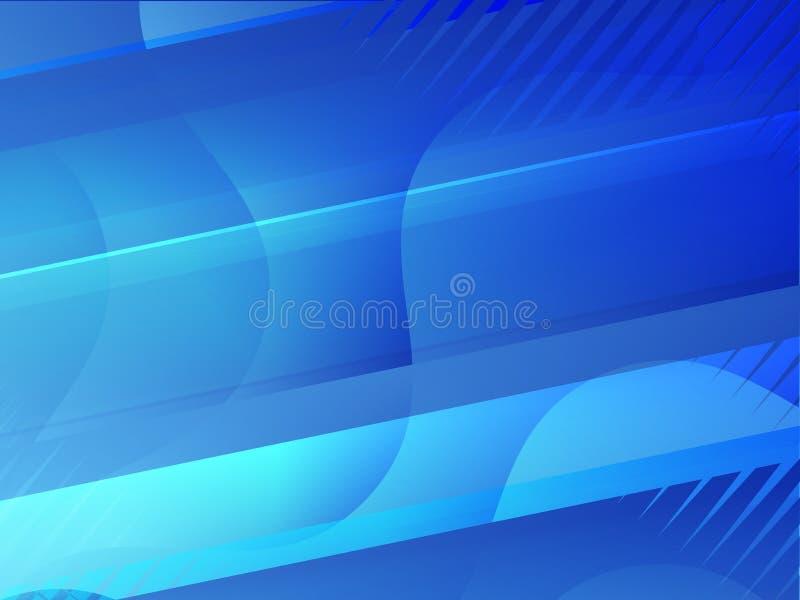 蓝色抽象背景 库存例证