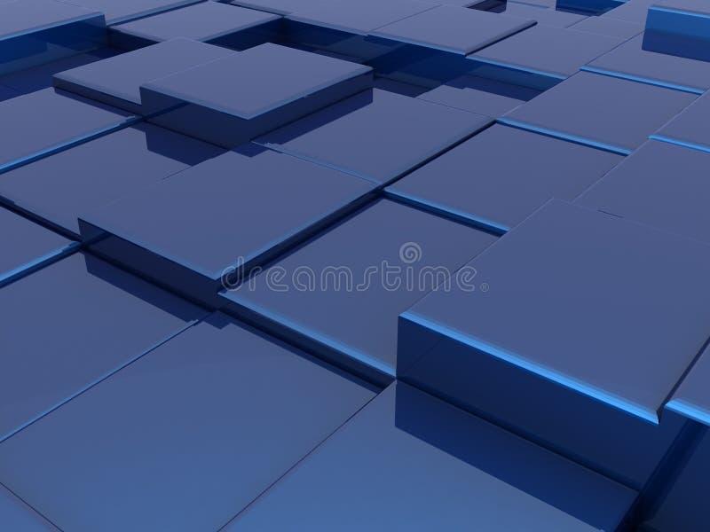 蓝色抽象都市背景(特写镜头) 皇族释放例证