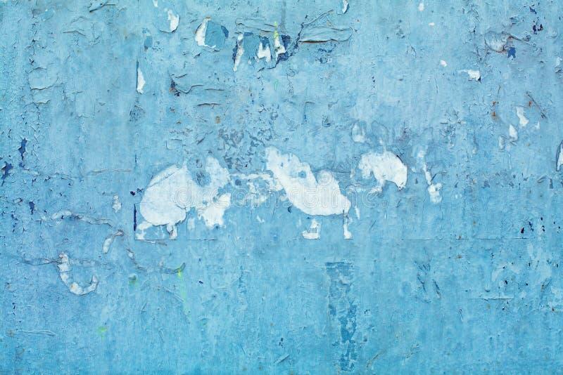 蓝色抽象难看的东西灰泥墙壁背景 免版税库存图片