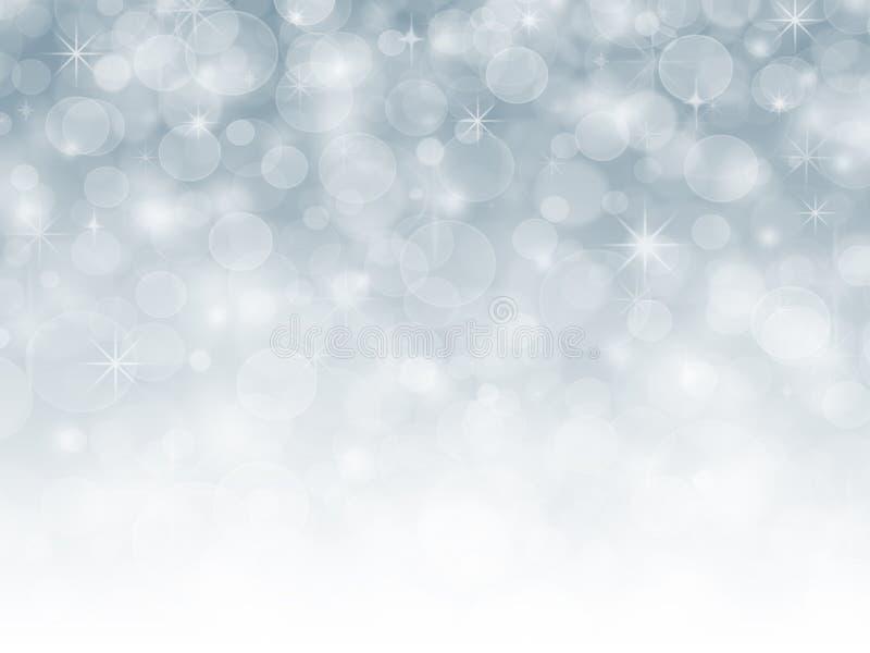 蓝色抽象雪冬天圣诞节假日背景 皇族释放例证
