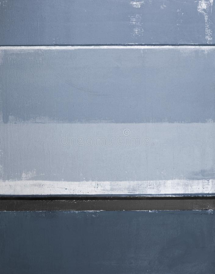 蓝色抽象派绘画 免版税库存照片