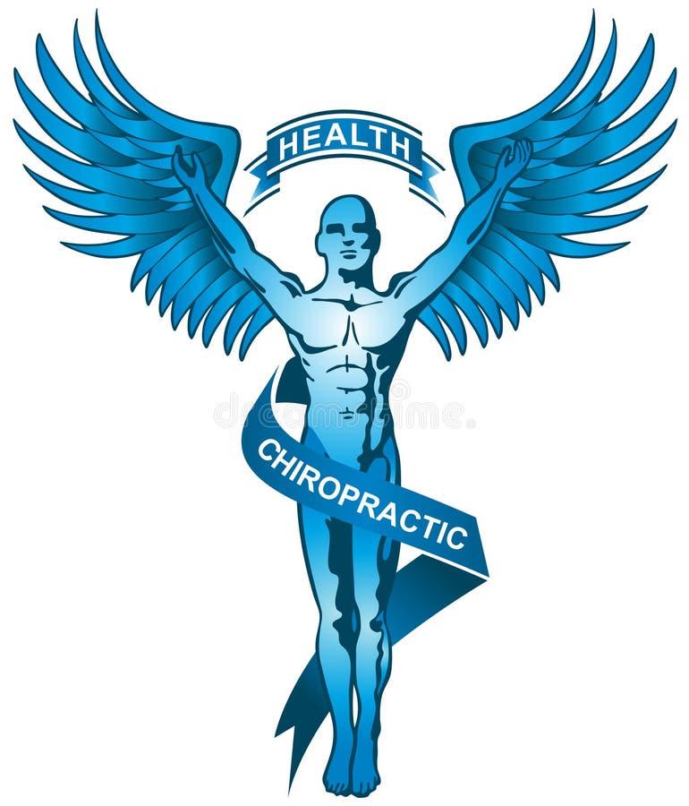 蓝色按摩脊柱治疗者徽标