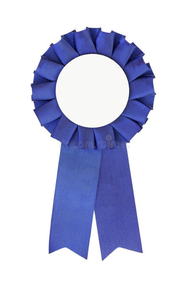 蓝色接近的丝带 免版税库存照片