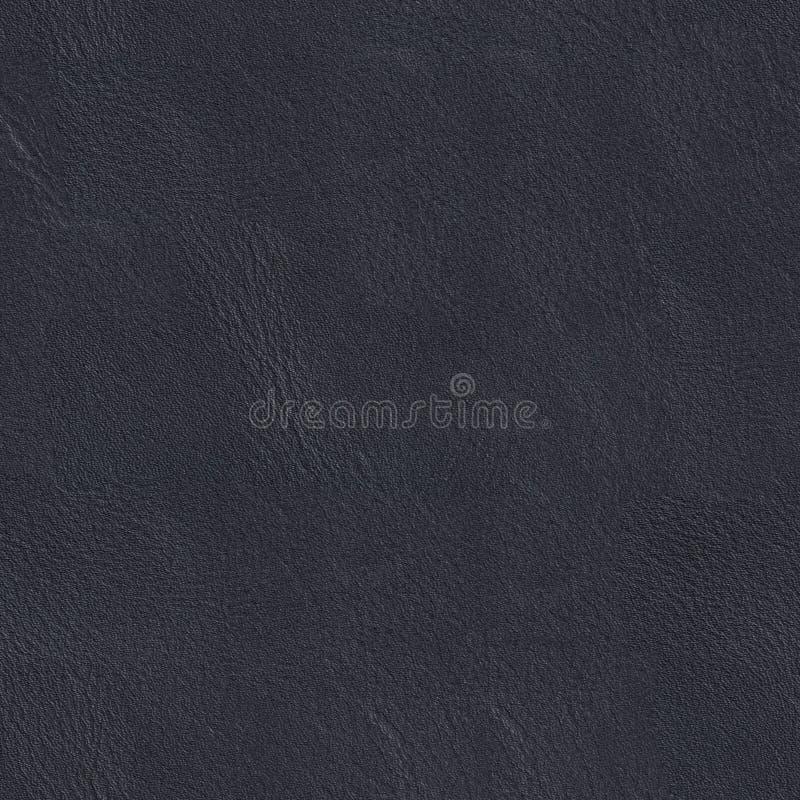 蓝色接近的黑暗的皮革自然纹理 无缝的方形的背景, t 库存照片