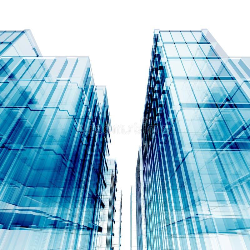 蓝色摩天大楼