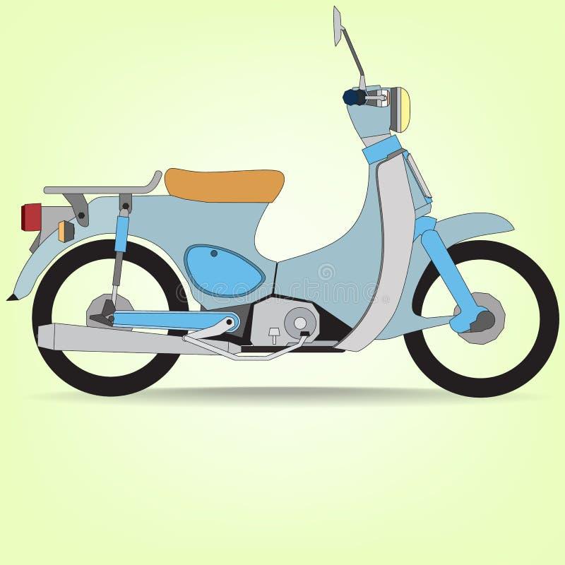 蓝色摩托车 库存例证