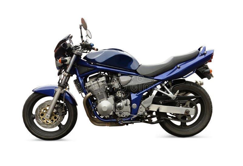 蓝色摩托车 免版税库存图片