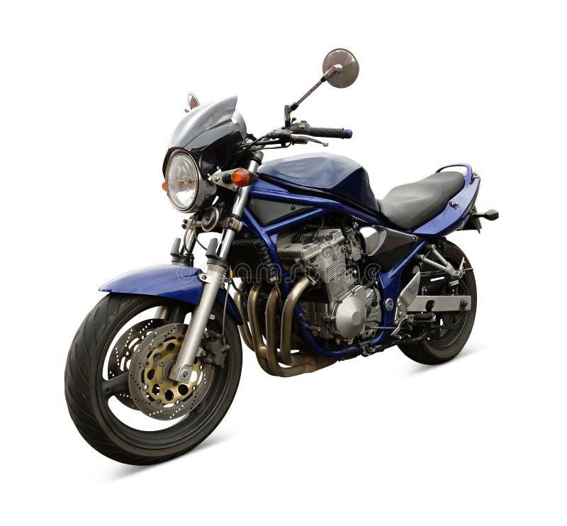 蓝色摩托车 免版税图库摄影