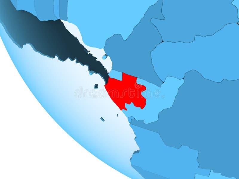蓝色政治地球的加蓬 皇族释放例证