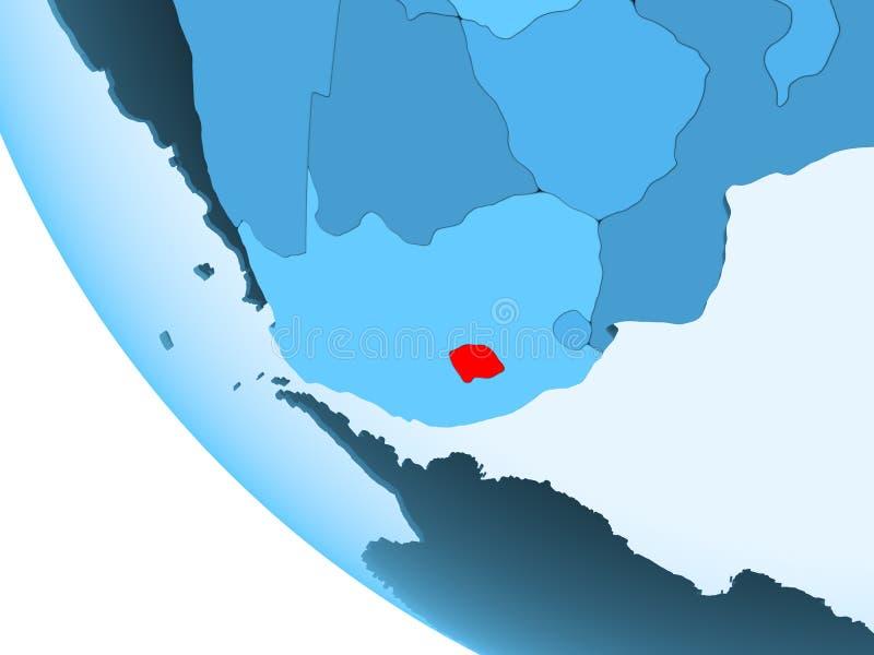 蓝色政治地球的莱索托 向量例证