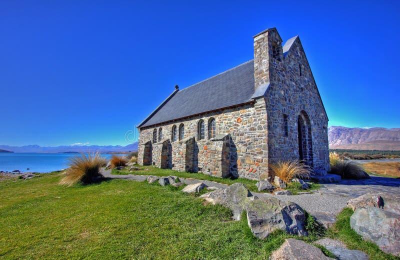 蓝色教会湖 库存图片