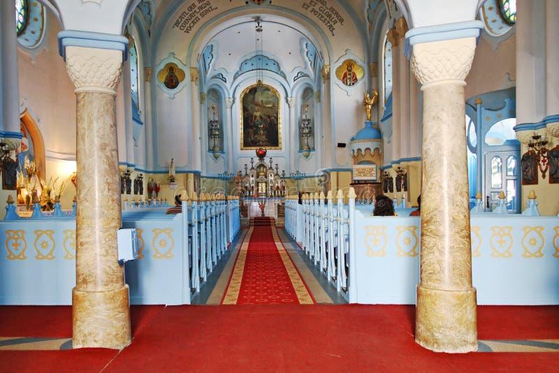 蓝色教会 免版税库存图片