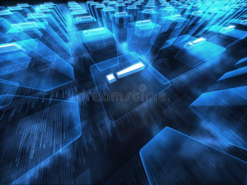蓝色数字式幻想场面 皇族释放例证