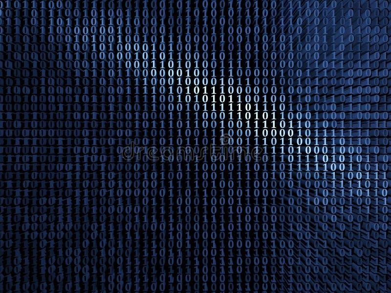 蓝色数字式金属背景 向量例证