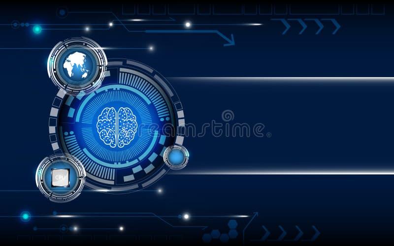 蓝色数字技术摘要背景 皇族释放例证