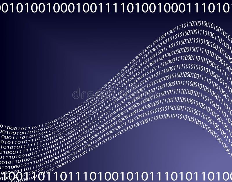 蓝色数据 库存例证
