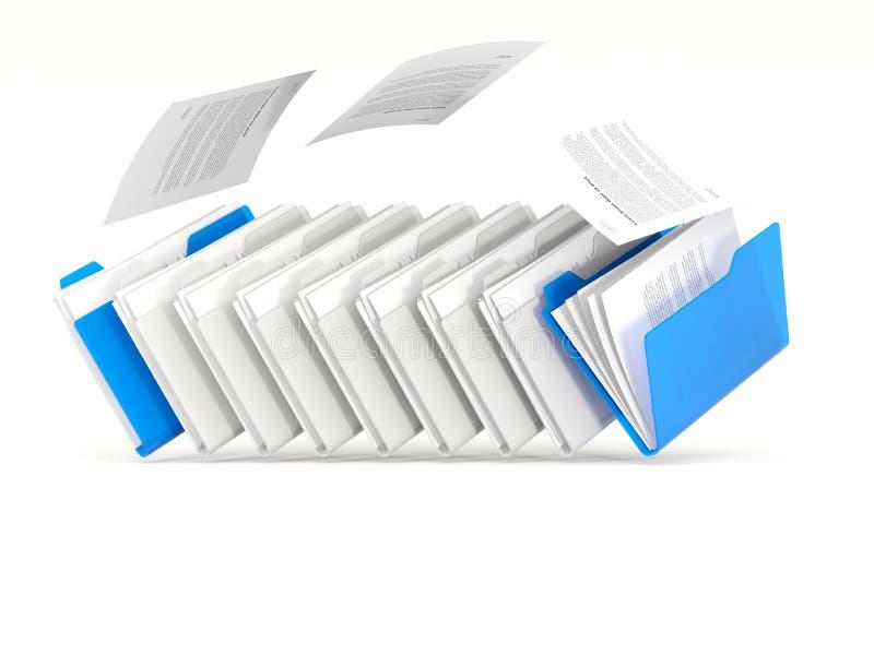 蓝色文件夹连续 向量例证